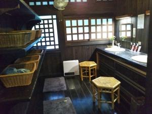 御客屋、姫肌の湯、脱衣場。