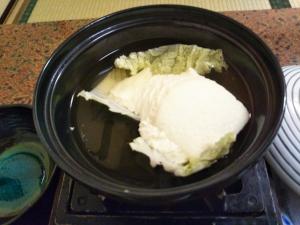 御客屋、朝食メニュー、手造り豆腐。