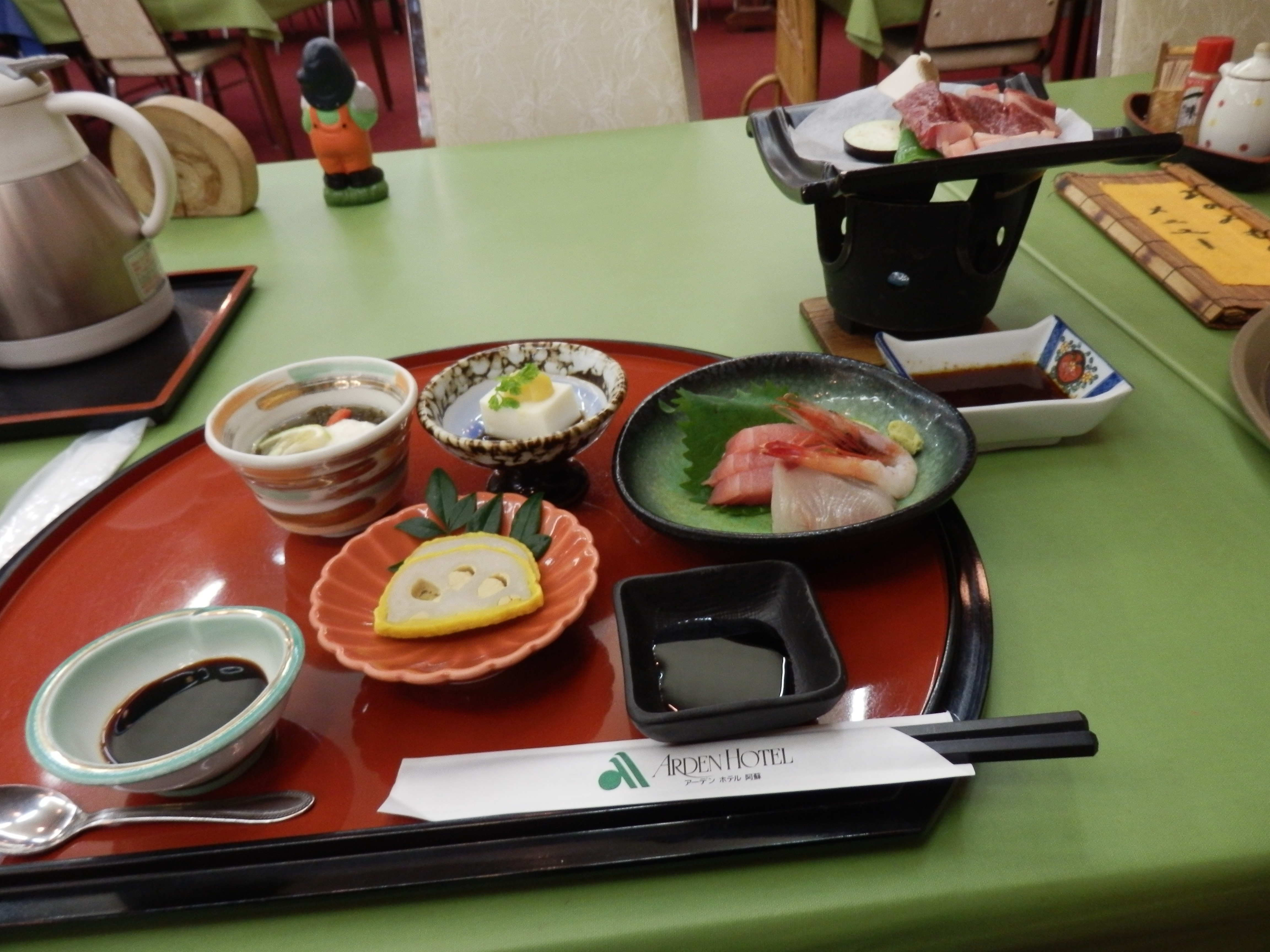 アーデンホテル阿蘇、夕食料理