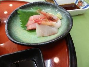 アーデンホテル阿蘇、夕食料理、刺身。