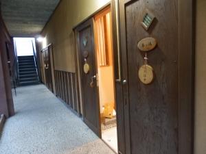 鷹の家、貸切風呂、廊下。