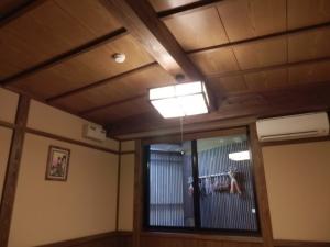 御客屋、和室、天井。