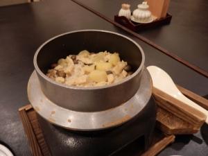 阿蘇プラザホテル、和会席料理、栗ご飯