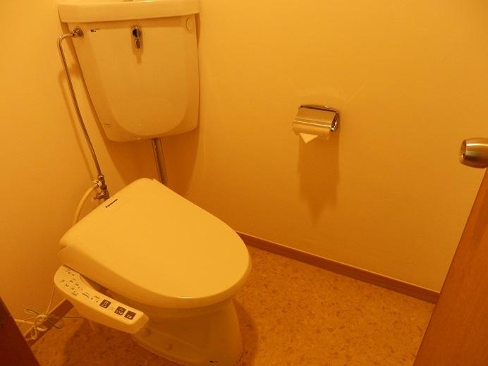 別府湯の宿ゆるり、部屋、トイレ。