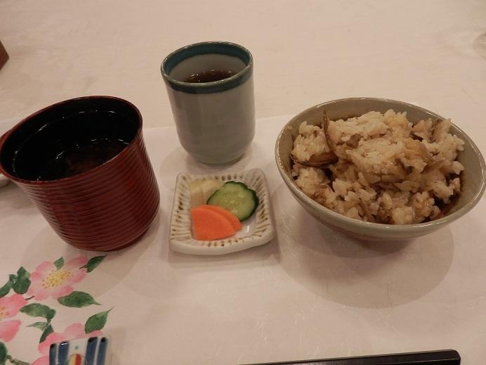 別府湯の宿ゆるり、夕食、ご飯。