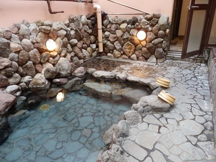 別府湯の宿ゆるり、露天風呂2