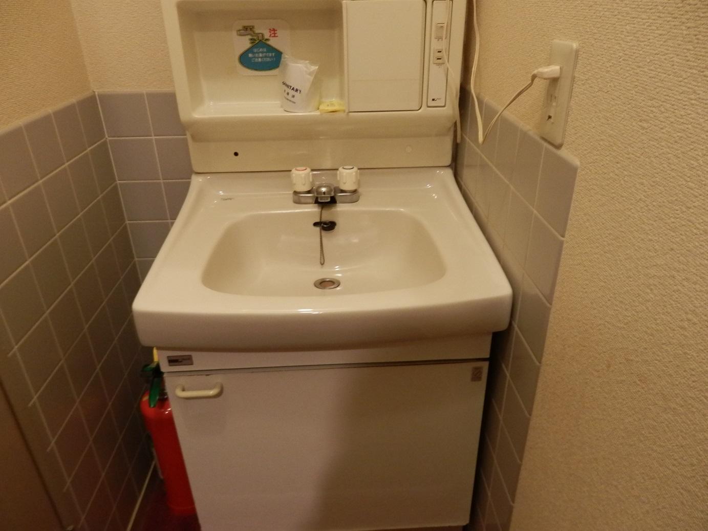 岩寿荘、和室、洗面台