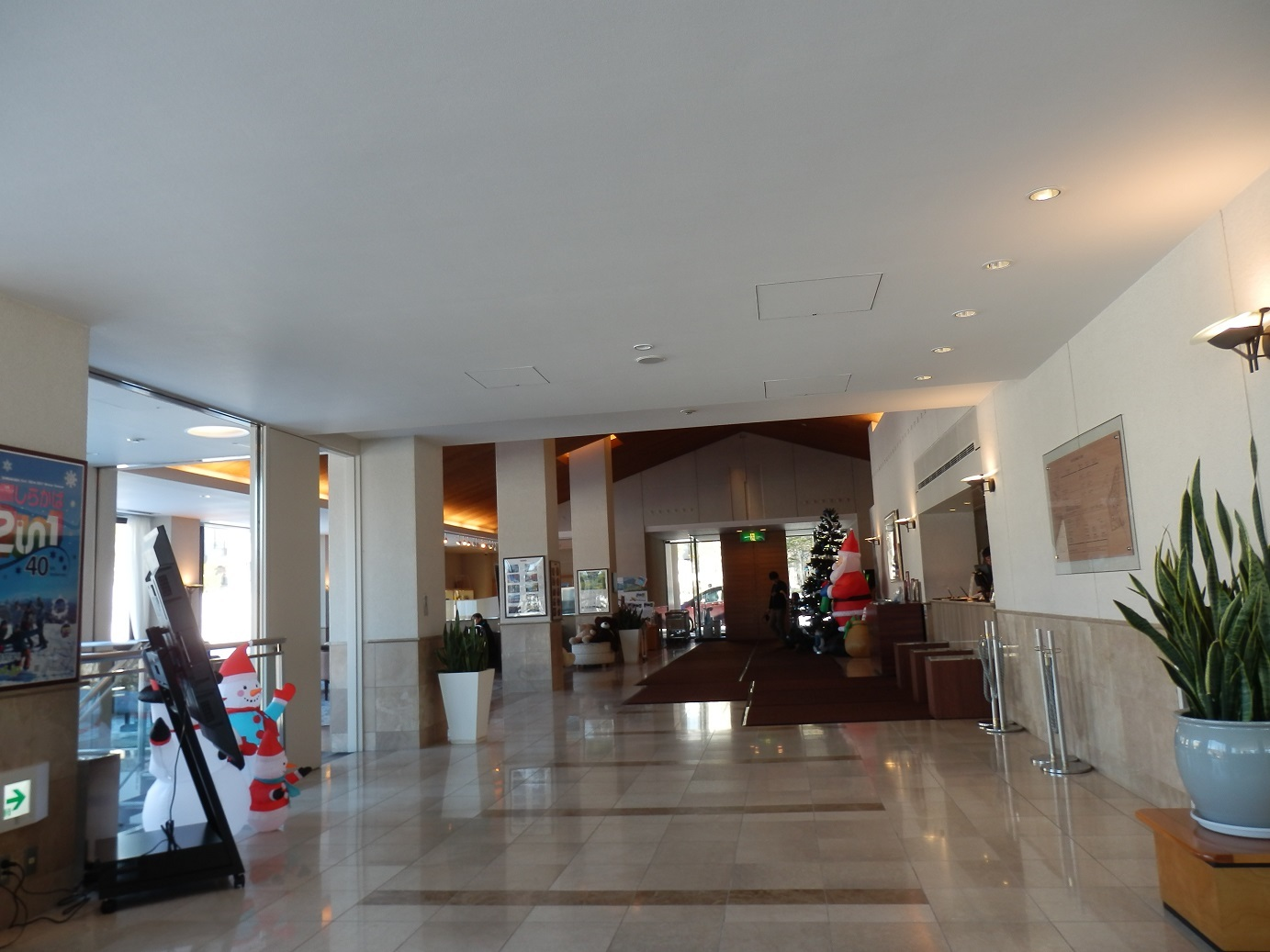 ホテルアンビエント蓼科、フロントロビー。