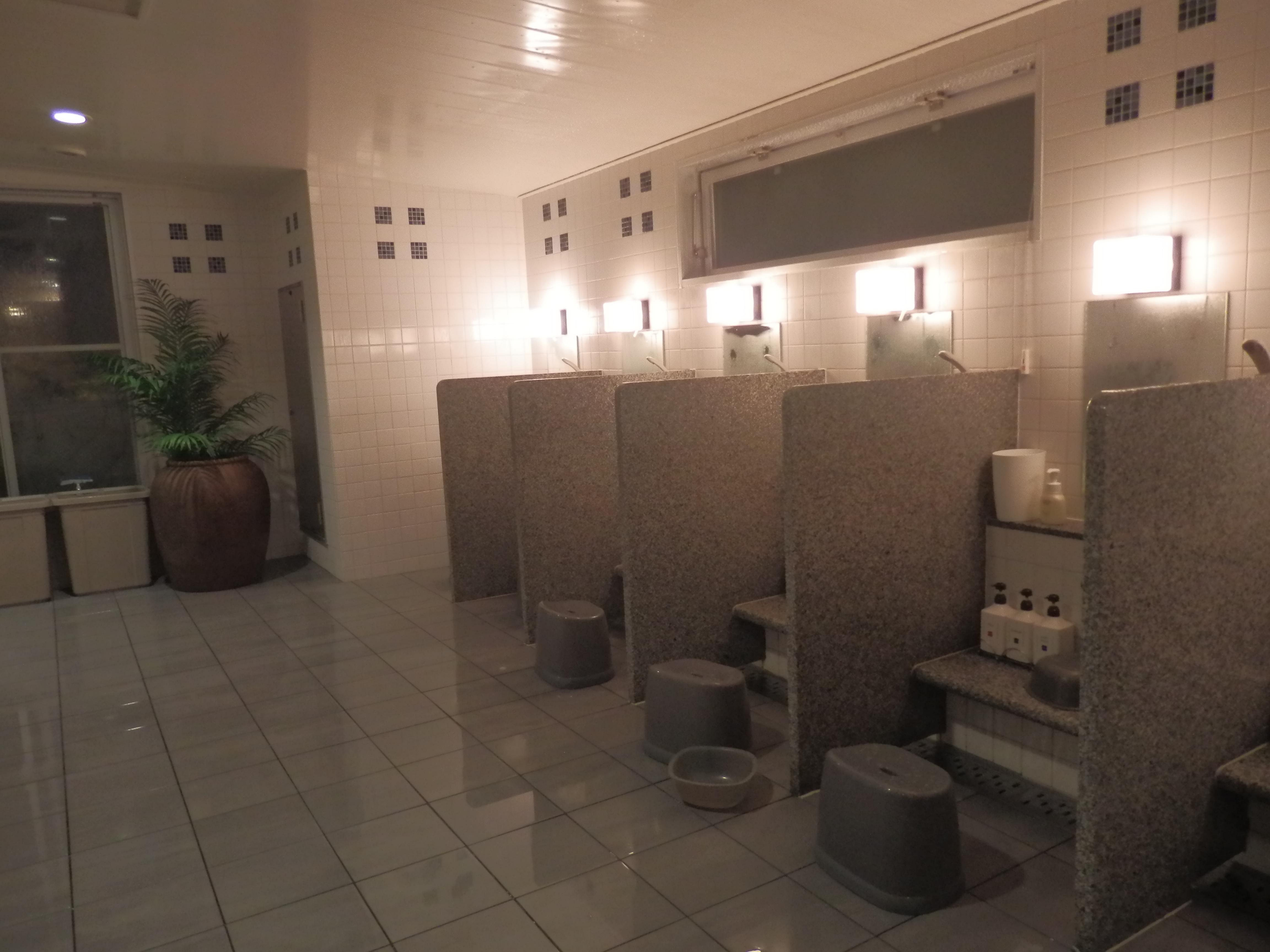 大浴場、内湯、洗い場。