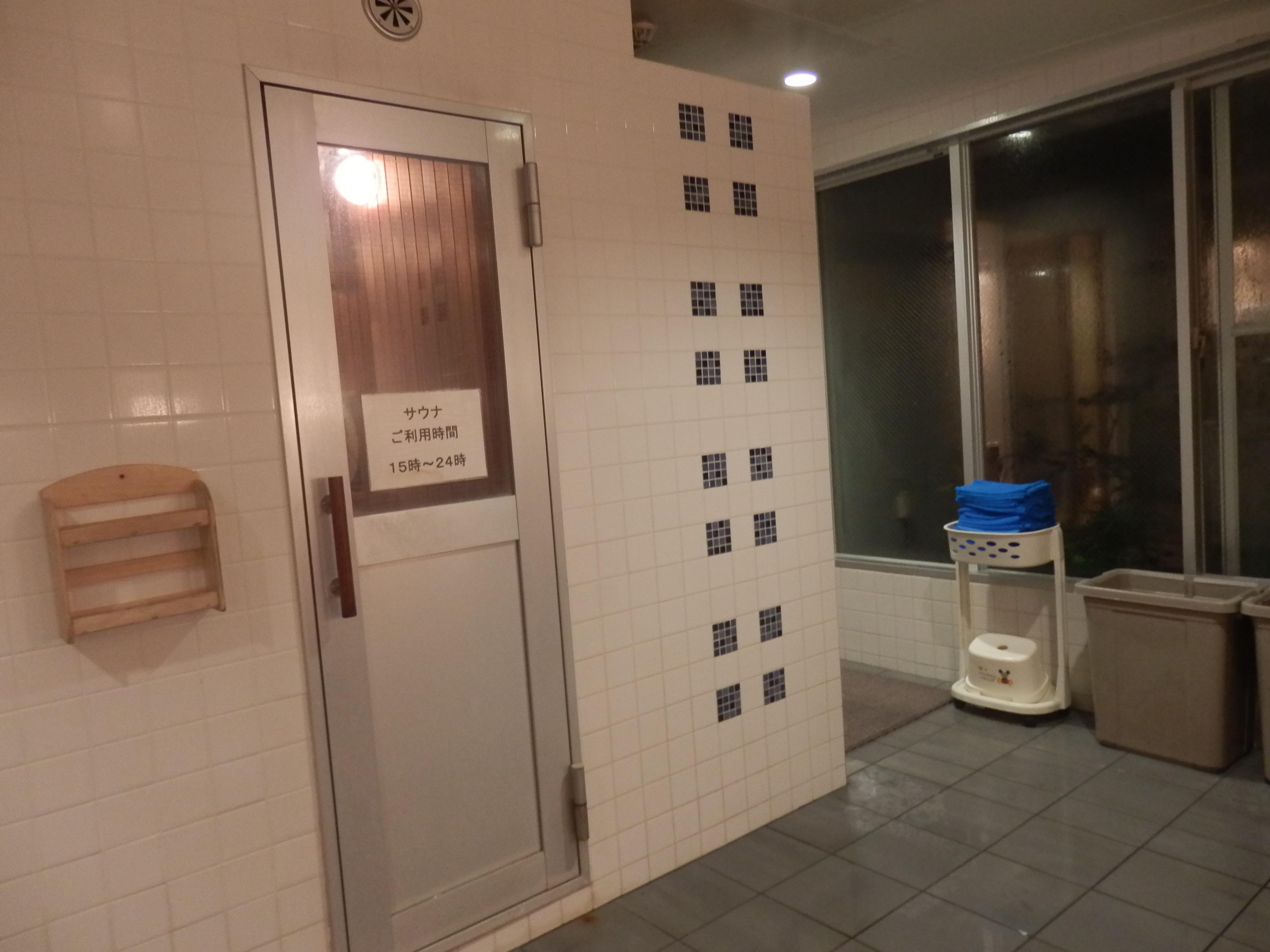 大浴場、サウナルーム。