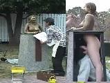 若槻せな 羞恥プレイ青姦裸婦銅像えっち