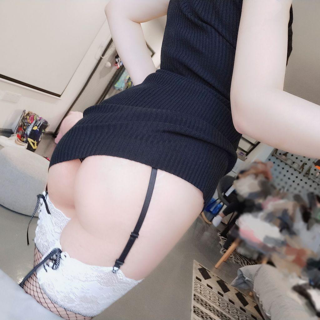 Black hip wrap dress012