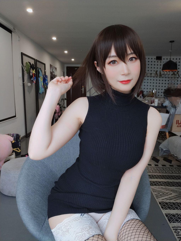 Black hip wrap dress015