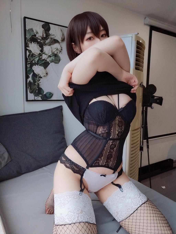 Black hip wrap dress032