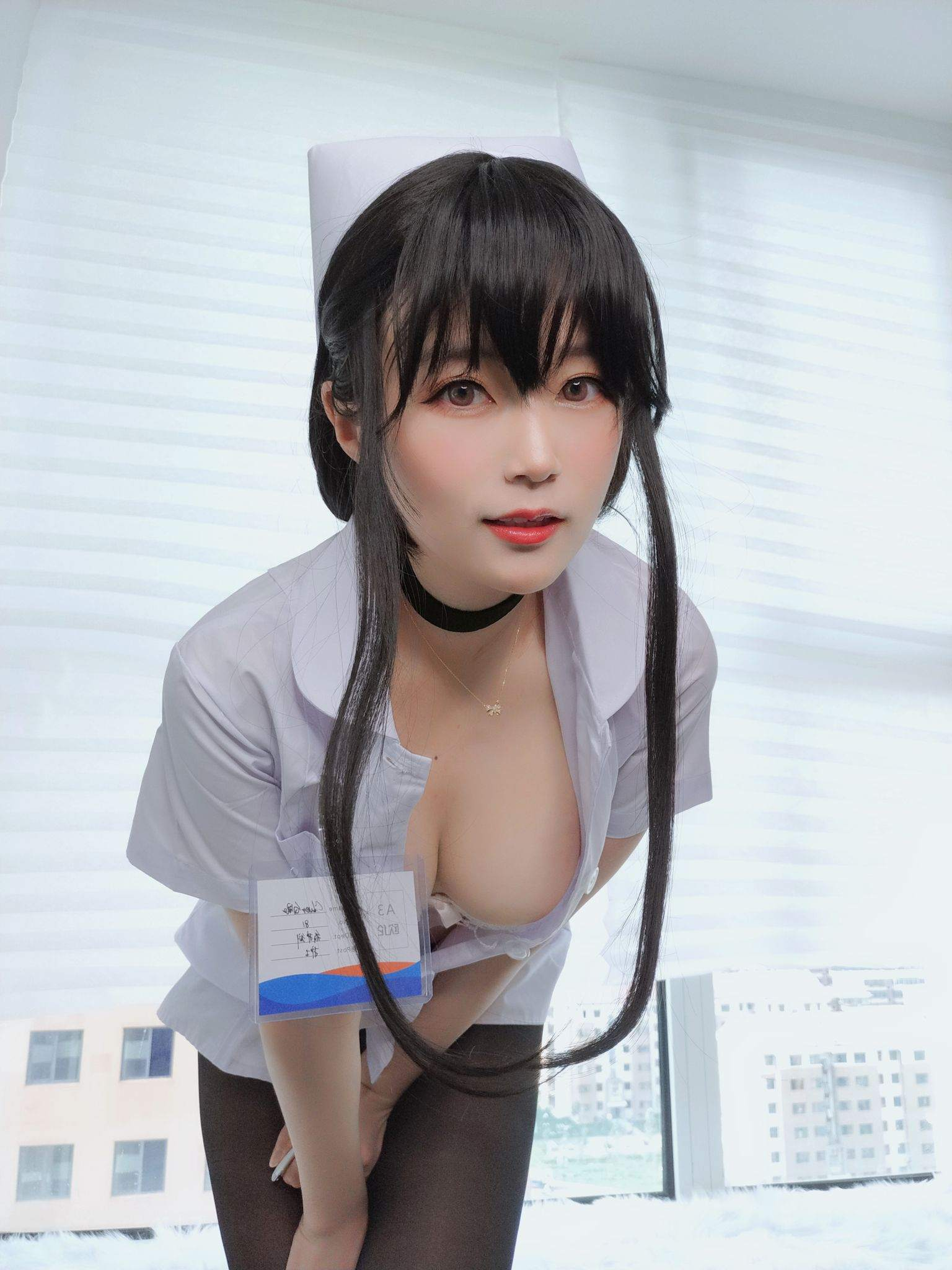 Nurse with long hair066