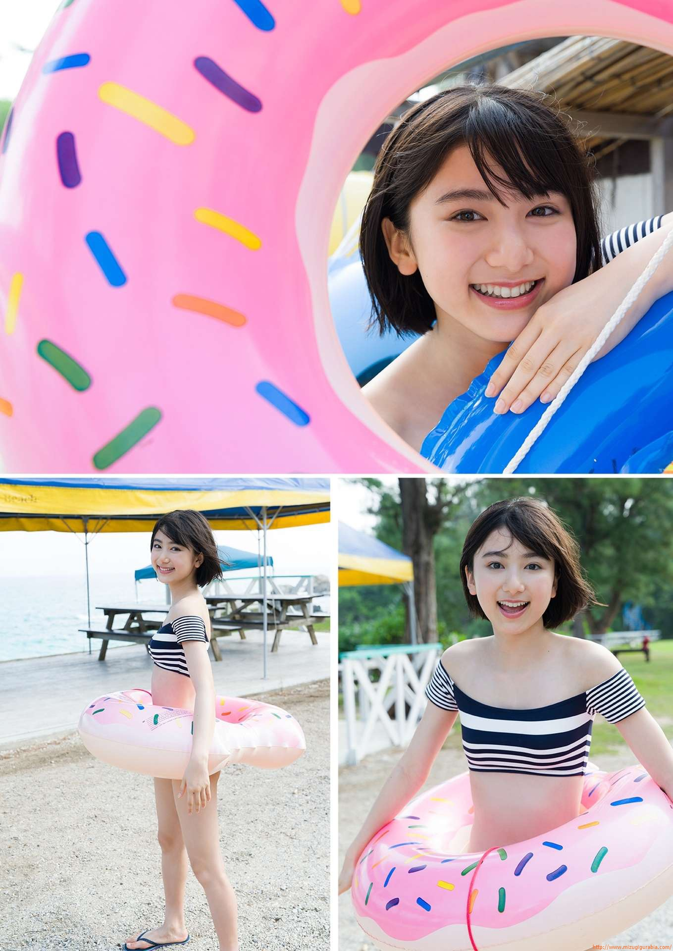 First swimsuit gravure of a beautiful girl of 16 years old topic024