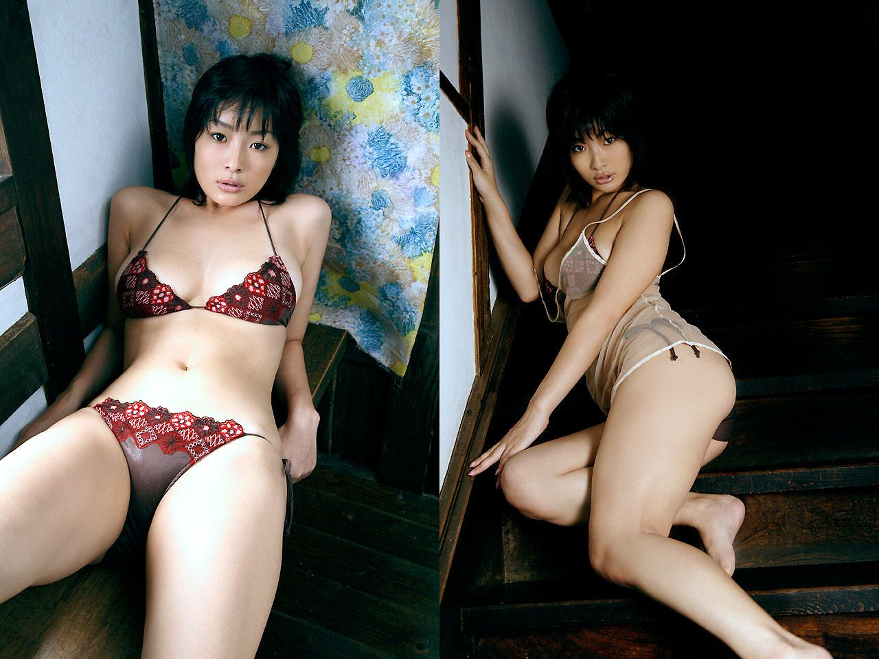 Lush breasts spilling out from a small cloth that hides a fiery passion Wasa Sato033