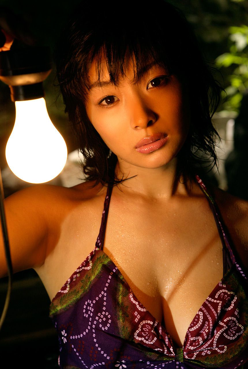 Lush breasts spilling out from a small cloth that hides a fiery passion Wasa Sato040