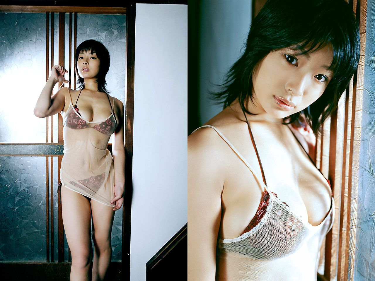 Lush breasts spilling out from a small cloth that hides a fiery passion Wasa Sato047