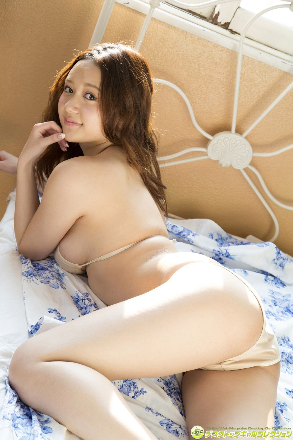 She has beautiful white, clear skin and marshmallow G cups023