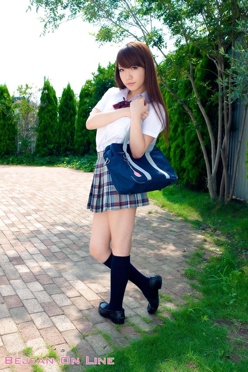 Bishojo Gakuen Shimizu Airi School Uniform Bloomers Swimsuit Competition Image002