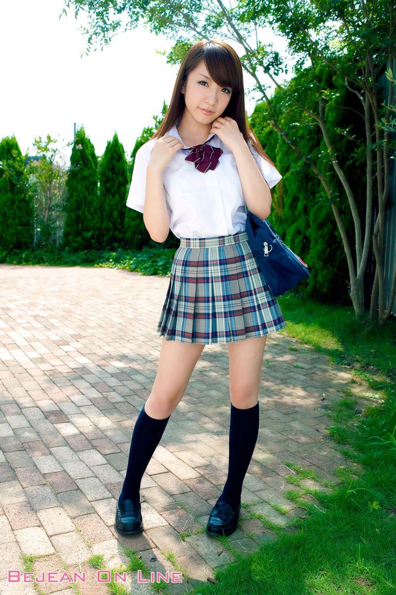 Bishojo Gakuen Shimizu Airi School Uniform Bloomers Swimsuit Competition Image003