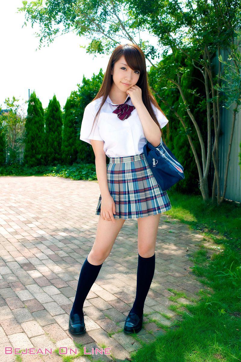 Bishojo Gakuen Shimizu Airi School Uniform Bloomers Swimsuit Competition Image004