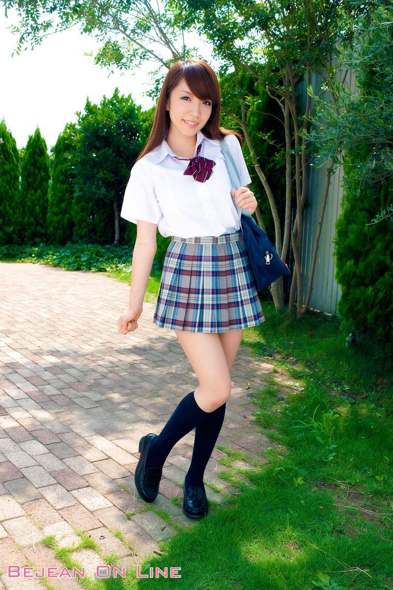Bishojo Gakuen Shimizu Airi School Uniform Bloomers Swimsuit Competition Image005