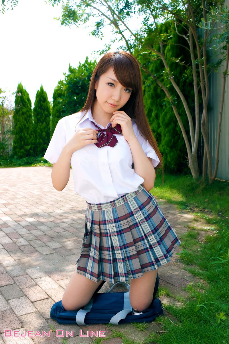 Bishojo Gakuen Shimizu Airi School Uniform Bloomers Swimsuit Competition Image006