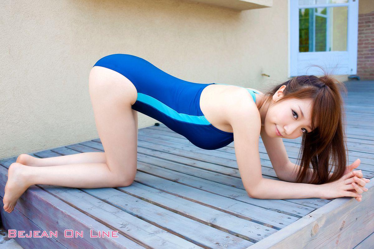 Bishojo Gakuen Shimizu Airi School Uniform Bloomers Swimsuit Competition Image033