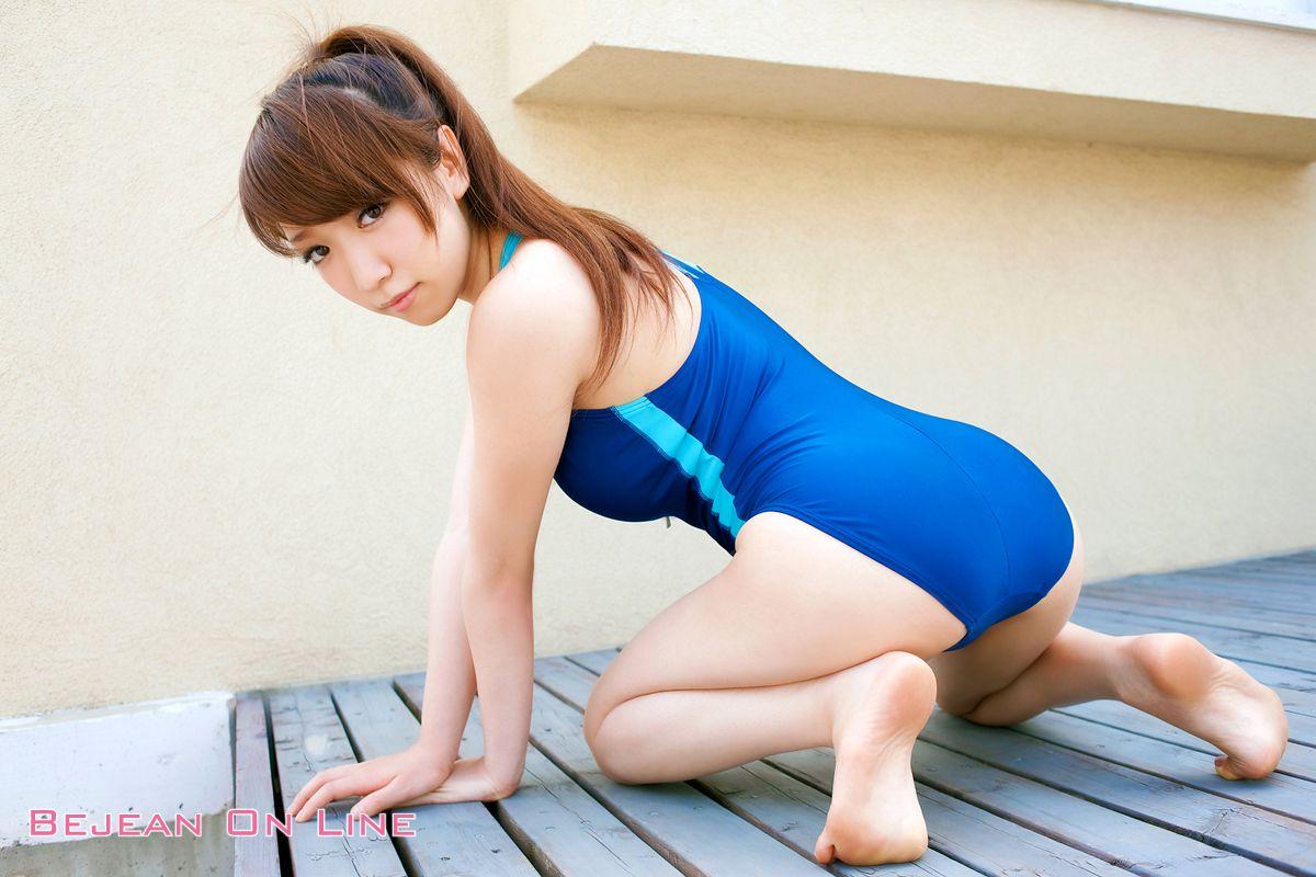 Bishojo Gakuen Shimizu Airi School Uniform Bloomers Swimsuit Competition Image034