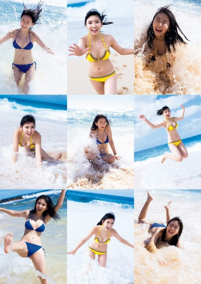 Aika Sawaguchi a 15-year-old high school freshman has a bouncy body in Hawaii015