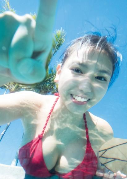 Aika Sawaguchi a 15-year-old high school freshman has a bouncy body in Hawaii096