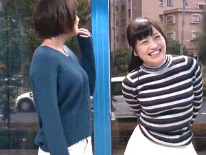 マジックミラー号!巨乳なママ友2人組の人妻ナンパ!おっぱいマッサージから4P乱交!