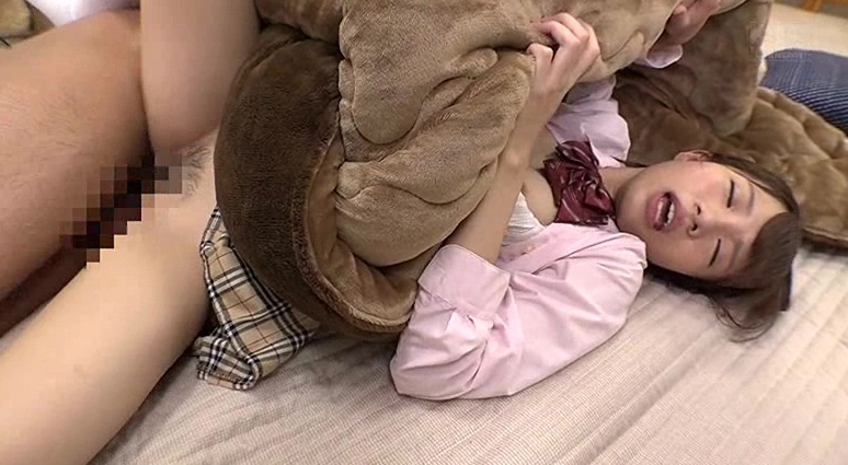制服のまま無防備な格好でコタツで寝ている妹のムレムレパンツに兄コーフン!ガマンできず周りにバレないようこっそりの脚フェチDVD画像3