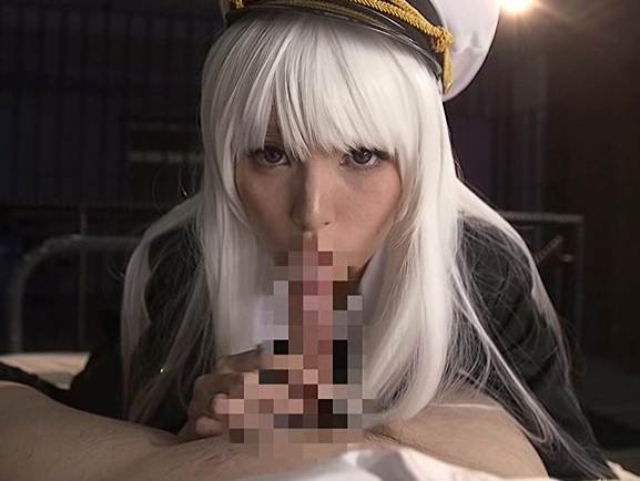 艦隊美少女の蒸れたニーハイソックスで足コキされ大量足射の脚フェチDVD画像1