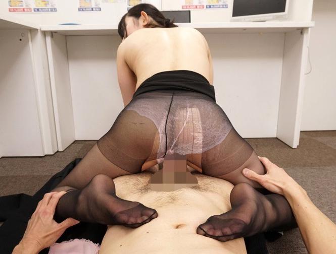 女上司の伝線パンストに我慢できず襲い掛かり足コキや着衣SEXの脚フェチDVD画像5