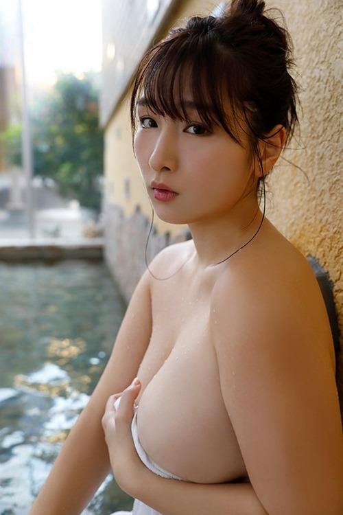 【吉田実紀(100㎝・Kカップ巨乳)マシュマロおっぱい下着セクシーボディ】画像26枚
