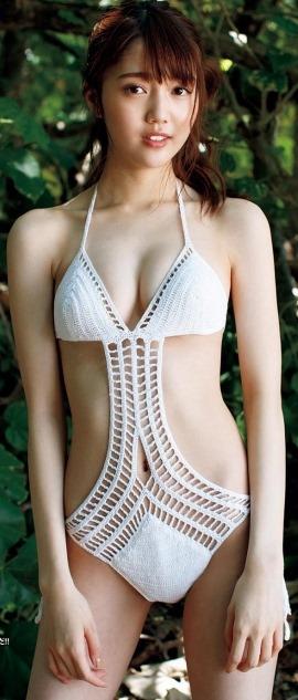 (松川菜々花(20才)マシュマロ美しい乳・ミズ着色っぽい体)写真26枚