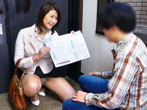 生命保険のセイルレディが身体を使って契約を取る熟女