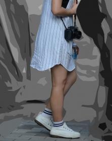 ミニワンピの生美脚