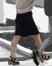 綺麗なラインが浮き出るタイトスカート