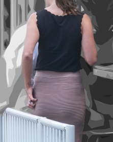 タイトスカートのぴったりヒップライン