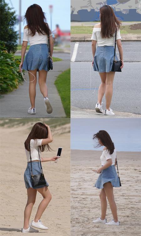 ■ ■vol330-砂浜を散歩するヒラスカ生美脚のお嬢さん