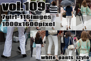 vol109-豊満美尻に食い込むタイトホワイトパンツのヒップライン♪