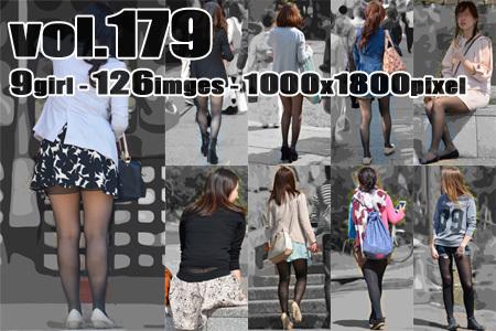 vol179-むっちり美脚の色気たっぷり黒タイツ