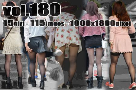 ■ ■vol180-女性らしい色っぽい美脚を際立たせる薄手黒ストッキング