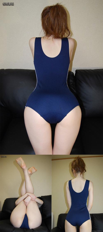 ■ ■ 素人着衣モデル♬ スクール水着でオ○ニー披露するお嬢さん!
