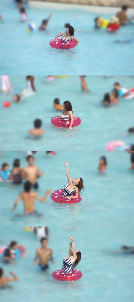 ■ ■vol117-プールで遊ぶ爆巨乳水着娘!デカ過ぎてブラジャー着用!【Photo&MP4Movie】再編集スロー再生収録