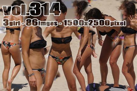 ■vol314■チューブブラとブラジリアンパンティのビキニギャル♪